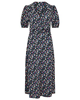 Monsoon Floral Print Jersey Midi Dress