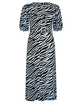 Monsoon Animal Jersey Midi Dress