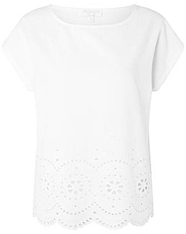 Monsoon Lila Woven Front Tee