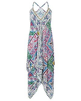 Monsoon SCARF PRINT HANKY HEM DRESS