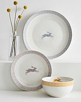 Artisan Hare 12 Piece Dinner Set