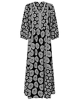 Monsoon ASHOKA CIRCLE PRINT MIDI DRESS
