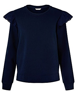 Monsoon Barbara Stretch Broderie Jumper