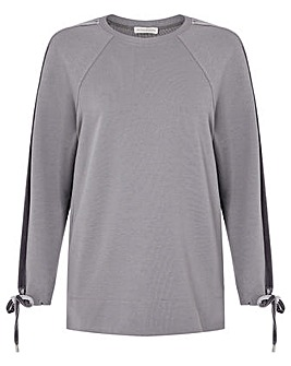 Monsoon Laurie Stretch Velour Sweatshirt