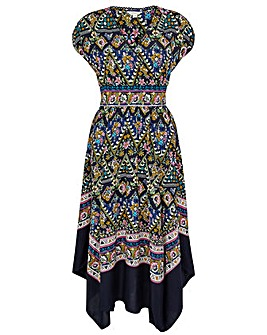 Monsoon PLACEMENT PRINT MLTI WRAP DRESS