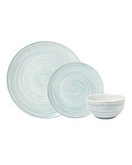 Swirl 12 Piece Dinner Set Sage