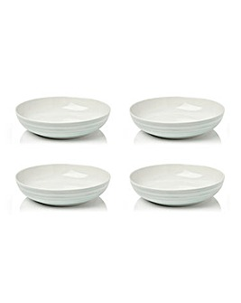 Swirl Set of 4 Pasta Bowls Sage