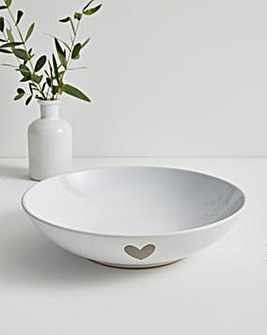 Cosy Heart Set of Four Pasta Bowls