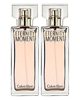 Calvin Klein Eternity Moment 100ml Eau de Parfum Buy One Get One FREE