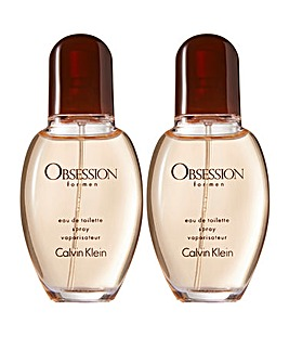 CK Obsession 30ml for Him Buy One Get One Free