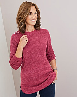 Julipa Boucle Tunic Jumper with Buttons
