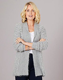 Julipa Fluffy Crochet Back Cardigan