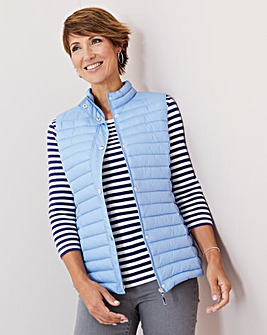Julipa Pale Blue Padded Gilet in Bag