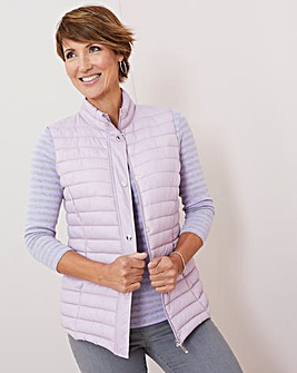 Julipa Lilac Padded Gilet in Bag