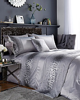 Cier Sequin Silver Duvet Cover Set
