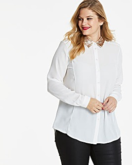 Ivory Sequin Detail Shirt