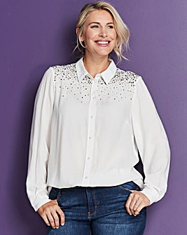 Ivory Embellished Shirt