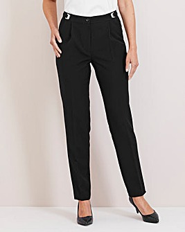 Julipa Black Adjustable Waist Trousers 27""