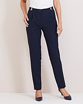 Julipa Navy Adjustable Waist Trousers 27""