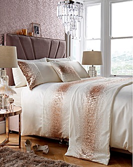 Cier Sequin Champagne Duvet Cover Set