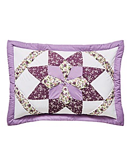 Brianne Purple Puffball Pillowshams