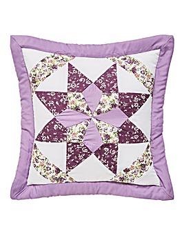Brianne Purple Puffball Cushion Covers