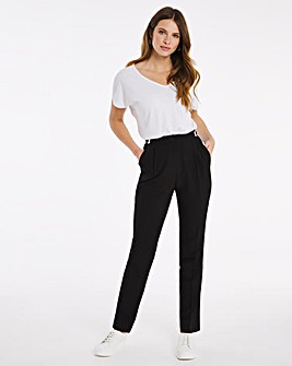 """Julipa Black Adjustable Waist Trousers 27"""""""