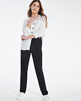 """Julipa Black Adjustable Waist Trousers 29"""""""