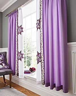 Brianne Purple Pencil Pleat Curtains