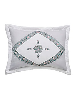 Faye Embellished Grey Pillowshams