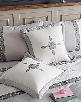 Faye Embellished Grey Cushion Covers