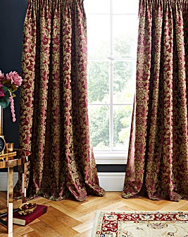 Como Jacquard Curtains With Tiebacks