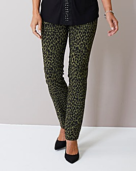 Julipa Stretch Animal Print Trouser