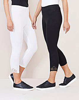 Julipa 2 Pack Cropped Leggings