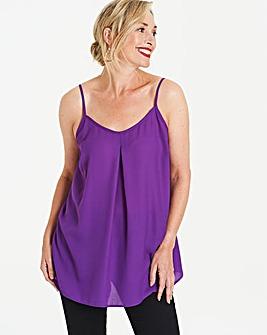 Purple Plain Strappy Cami