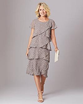 Julipa Chiffon Tiered Print Dress