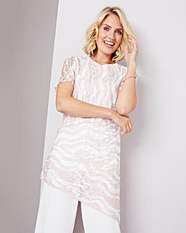 Julipa Blush Lace Stripe Tunic