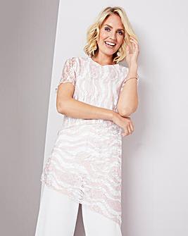 Julipa Blush Lace Stripe Tunic