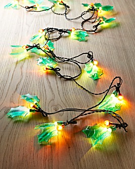 Holly & Berry LED Lights