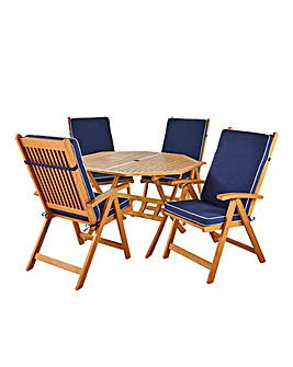 Georgia Octaganol Table with 4 Armchairs