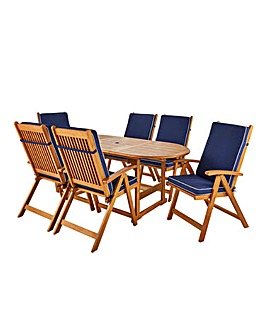Georgia Extending Table with 6 Armchairs