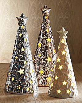 Set of 3 Ceramic Trees
