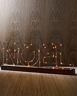 NOEL Copper Wire Light