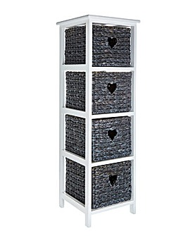 Hyacinth Hearts 4 Drawer Tall unit