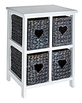 Hyacinth Hearts 4 Drawer Square Unit