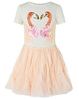 Monsoon Disco Flamingo Dress