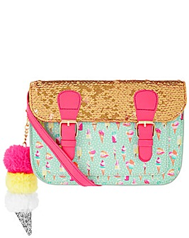 Monsoon Vera Ice Cream Sequin Satchel
