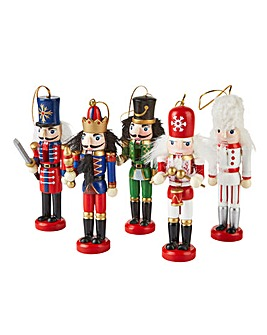 Set of 5 Nutcracker Hanging Figurines
