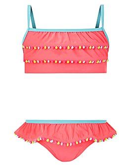 Accessorize Pom Pom Trim Bikini