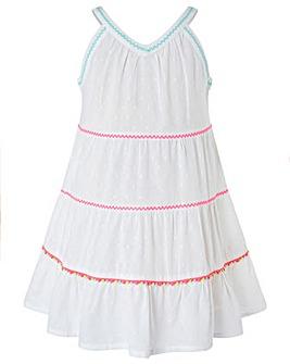 Accessorize Tiered Pom Pom Dress
